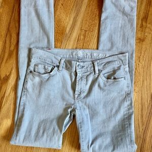7 for all Mankind grey wash skinny jeans